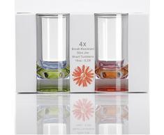Acryl Trinkglas 4er Set, 290ml in Echtglasoptik: Camping Poly Acryl Glöser Weinglas Wasserglas Trink Glas Kunststoff