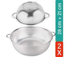 6 Tlg Küchensieb Abtropfsieb STAR-LINE® Sieb-Set mit 6 Sieb Größen für jeden Bedarf - Abseihen, Passieren, Abtropfen lassen -Edelstahl Salatseiher Salatsieb Nudelsieb