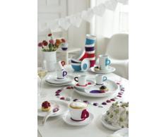 Kahla Five Senses Cappuccino-Tasse Touch! Five Senses Tasse Skyline Hannover, groß, Violett