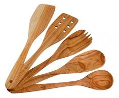 Küchenutensilien-Set. Holz süße Küche Utensilien. Küche angeboten und Utensilien-Set von 5 aus Kirschholz