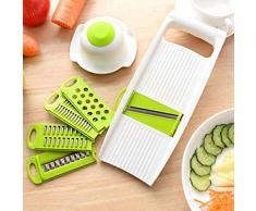 jiyoujianzhu 7-teiliges Set Lebensmittelzerkleinerer Multifunktions Gemüseschneider Kartoffelhobel Reibe Küchenwerkzeuge multi