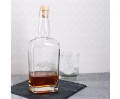 Privatglas Whisky Karaffe mit Gravur 700 ml - Gentleman Whiskey - mit Namen und Geburtsjahr