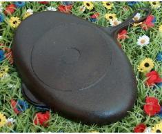 Fischpfanne oval Gusseisen Pfanne 33/21 cm Skeppshult