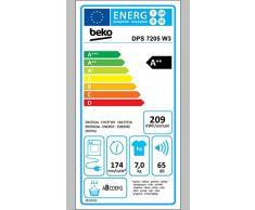 Beko DPS7205W3 Wärmepumpentrockner/A++/Wärmepumpentechnologie/FlexySense-Elektronische Feuchtemessung/Aquawave-Schontrommel/Express-Programm/Automatischer Knitterschutz/Reversierende Trommelbewegungen