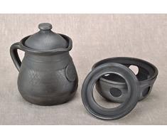 Ton Kanne fur Kaffee mit Behalter zum Aufheizen
