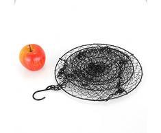 Malmo 3 Tiered Obstkörbe Hängender Speicher Korb für Küche Gemüse Obst, Metall, Schwarz