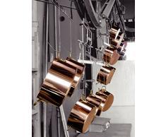 Kupfermanufaktur Weyersberg Kupfer Stielkasserolle Kupfertopf Edelstahl Classic ohne/mit Deckel + Prymo Ausführung mit Deckel, Größe 14 cm