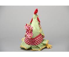Künstlerischer schöner interessanter Teekannenwärmer aus Stoff Huhn Handarbeit