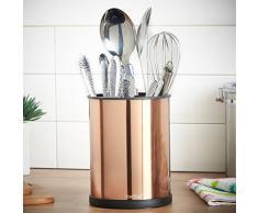 VonShef Rotierender Halter für Küchenutensilien 18cm - Edelstahl und Kupfer