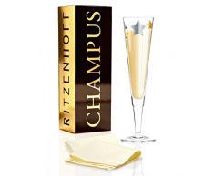 Ritzenhoff 1070223 Design Champagnerglas, Sektglas mit Stoffserviette, Pietro Chiera, Herbst 2015