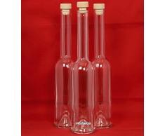 10 Leere Glasflaschen 200 ml OPI-HGK kleine Flaschen mit Griffkorken Verschluss 0,2 Liter l Likörflaschen 200ml Schnapsflaschen Essigflaschen Ölflaschen von slkfactory