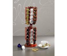 Xavax Kaffee-Kapselständer Rondello für Nespresso, rot
