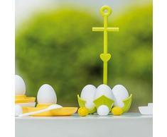 Koziol Aloha Eierkocher, für 4 Eier im Kochtopf, Topfeinsatz, Solid Koralle, 3091624