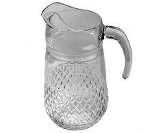 Glaskrug Kristall Optik Wasserkaraffe 1,3 l Glaskaraffe Trinkkaraffe