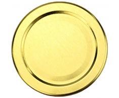 24 leere runde Einmachgläser Mini 30 ml incl. Drehverschluss Gold von gouveo, Vorratsgläser, Marmeladengläser, Einkochgläser, Gewürzgläser, Einweckgläser (24, Deckel Gold)