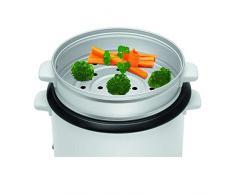 Reiskocher für ca. 2,5 kg gekochten Reis mit Reistopf Dampfgarer mit Warmhaltefunktion, herausnehmbaren Topfeinsatz, automatische Abschaltung (sparsame 700 Watt + antihaftbeschichtet)