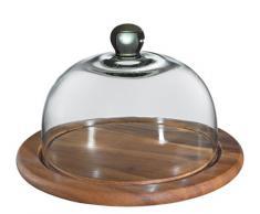 Zassenhaus 55870 Käseglocke mit Glasdeckel, akazie 30 cm