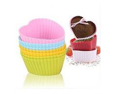 Keysui 6 Tassen Und Wiederverwendbar Mini Muffins Cupcake Silikon Backförmchen Formen