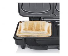 Tristar SA-3060 Sandwich Maker - Extra tiefe Grillplatten - Zwei Portionen gleichzeitig