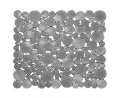 iDesign Spülbeckeneinlage, regulär große Spülbeckenmatte aus Kunststoff, schützende Spülmatte für Keramik- und Edelstahlbecken, grau