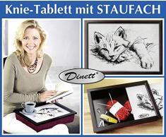 WENKO Knie-Tablett Katze Knietablett Knie Tablett Frühstückstablett Betttablett Laptoptisch Bett gepolstertes Laptop Laptopauflage Tablett