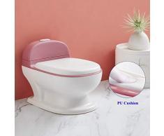 DUWEN Töpfchentraining für Jungen und Mädchen mit lebensechtem Spülknopf und Sound Spezialtopf Tragbarer Toilettensitz Leicht zu reinigen für Kinder im Alter von 0 bis 6 Jahren