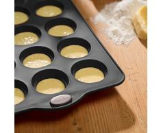 Levivo Muffinbackblech 12er, Silikon Muffin Backform für 12 Muffins oder Cupcakes, Backblech mit Muffinformen in Grau, Cupcake Form 36 x 25 cm