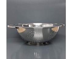Küchensieb, Abtropfsieb, Edelstahl Sieb 28cm massiv, für Salat Nudeln und mehr