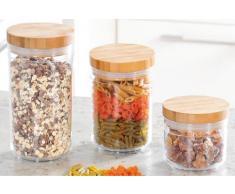 Kesper Aufbewahrungsglas, Küchenglas, mit Deckel, Vorratsglas, aus Acryl, Bambus, 9,5cm