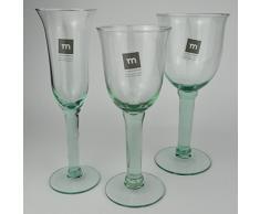 6 Stück von Kelchglas Campanillo 200 ml Weinglas Weinkelch recycled Glas La Mediterranea