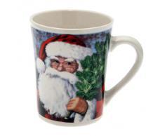 Weihnachtstasse, Weihnachtsmann mit Tannenzweig, Kaffeetasse, Becher, 350 ml