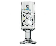 RITZENHOFF Schnapps Schnapsglas von Dominika Przybylska (Every drop), aus Kristallglas, 40 ml, mit fünf Schnapsdeckeln