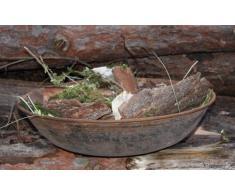 Rostikal | Edelrost Rost Metall Schale | runde Edelrost Dekoschale für Ihre Gartendeko | Durchmesser 53 cm