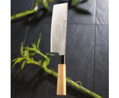 TokioKitchenWare Damast-Hackmesser NAKIRI mit 17,5cm Klinge