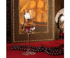 polar-effekt edles Grappaglas 87ml - Stölzle Lausitz in hochwertige Qualität - Grappakelch wie mundgeblasen mit Gravur - Geschenk-Idee zum Geburtstag - Motiv Segelschiff