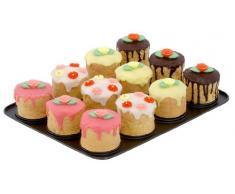 Zenker 12er Mini-Törtchen-Backblech, Cupcake Backform in schwarz mit Antihaftbeschichtung für kleine Kuchen (Kuchenform: rund, Ø 8,5 x 7, 5 cm), Menge: 1 Stück