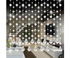 Shage Kristallglas Perlen Vorhang Luxus Wohnzimmer Schlafzimmer Fenster Tür Hochzeit Dekor (E)