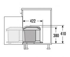 Hailo 3634101 Abfallsammler MS Swing 40.1/20 für Schränke ab 400 mm Breite mit Drehtür