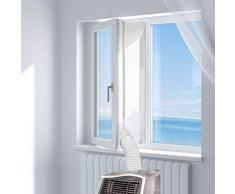 HOOMEE Fensterabdichtung für mobile Klimageräte, Klimaanlagen, Wäschetrockner, Ablufttrockner   Hot Air Stop zum Anbringen an Fenster, Dachfenster, Flügelfenster (Fensterabdichtung Klimaanlage 500cm)