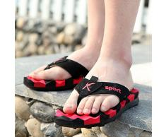 Flops/Herren Slip atmungsaktiv im Sommer Student Badeschuhe/Wohntrends tarnen Schuhe-A Fußlänge=26.3CM(10.4Inch)