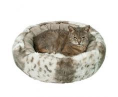Kuschelbett Leika beige-weiß/beige für Katzen, Durchmesser: 50 cm