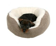 Kuschelbett Yuma braun/wollweiß für Hunde, Durchmesser: 45 cm
