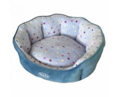 Nobby Katzenbett oval Spot türkis/hellblau, Maße: 45 x 40 x 19 cm