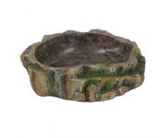 Trixie Wasser- & Futterschale Regenwald, Reptilien, Maße: 18 x 4,5 x 17 cm