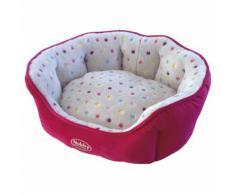 Nobby Katzenbett oval Spot pink/hellgrau, Maße: 65 x 57 x 22 cm