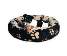 Kuschelbett Sammy schwarz/beige für Hunde, Durchmesser: 50 cm