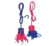 Karlie Flamingo Sisal Spielzeug mit Vogelstimme und Feder