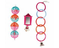 Karlie Flamingo Vogelspielzeug Ring, Ball, Laterne