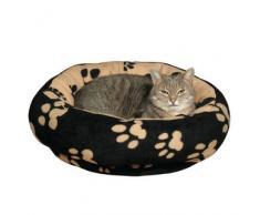 Trixie Kuschelbett Sammy schwarz/beige für Hunde, Durchmesser: 50 cm