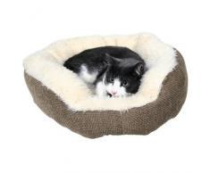 Trixie Kuschelbett Yuma braun/wollweiß für Hunde, Durchmesser: 45 cm